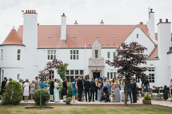 wedding guests at lochgreen troon