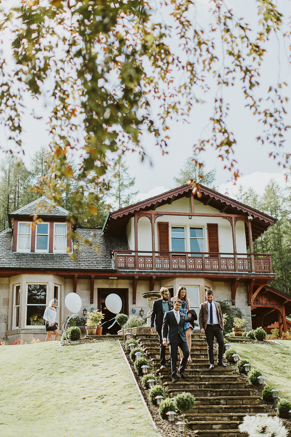 wedding at the lodge on loch goil by fotogenic of scotland