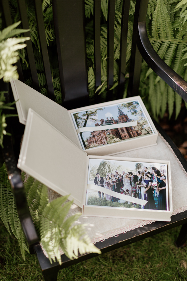 mount stuart wedding photos printed in custom box
