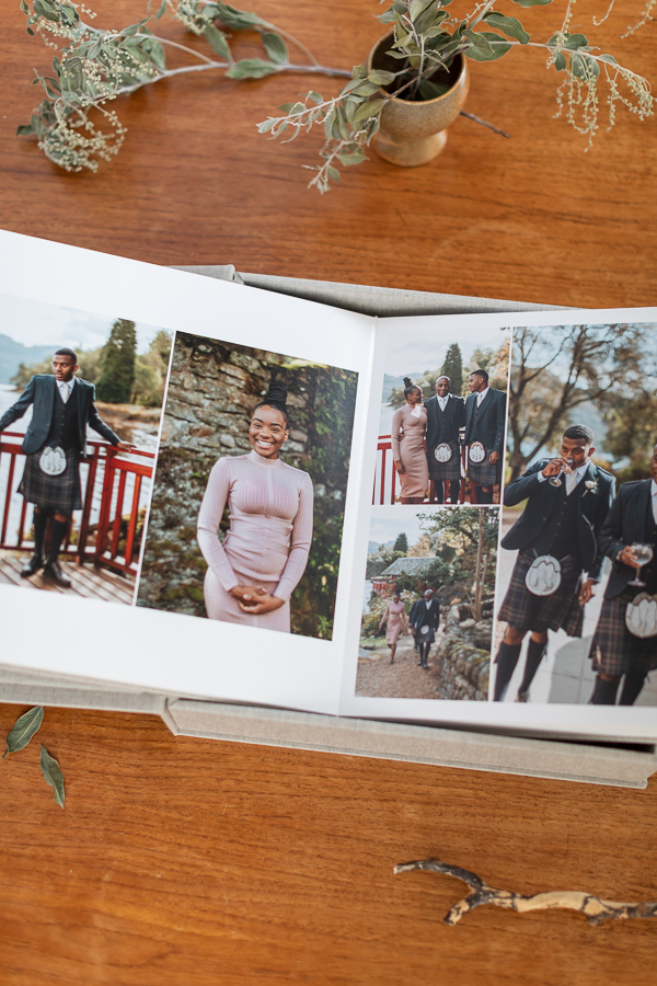 wedding albums from Glasgow Scotland the lodge on loch goil