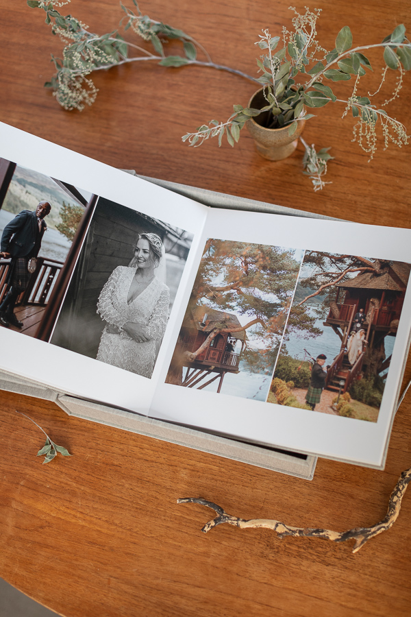 the lodge on loch goil wedding albums from Glasgow Scotland