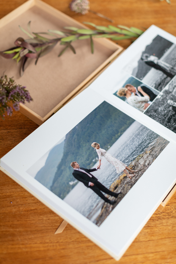 the locge on loch goil wedding albums from Scotland elopement