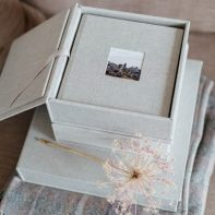 wedding albums scotland linen cover