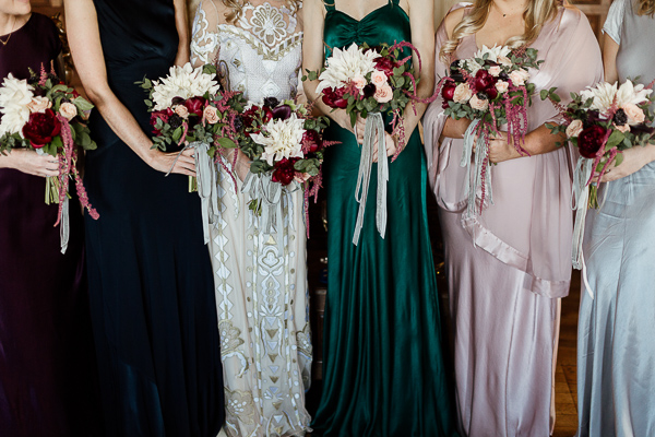 wedding flowers and dresses