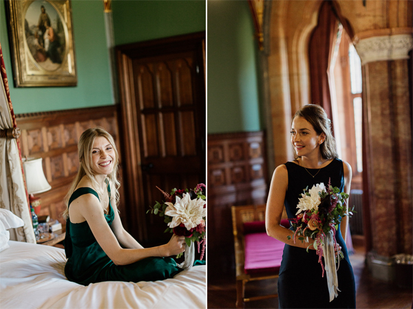 two bridesmates portriats