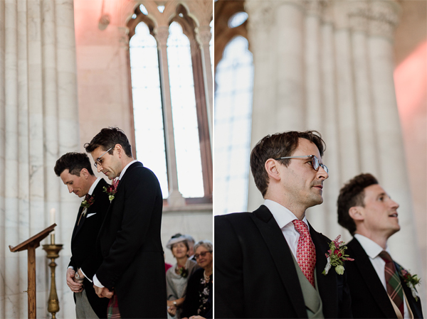 groom and bestman waiting at ceremony