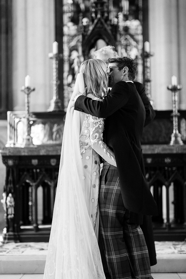 first kiss during church of scotland ceremony isle of bute