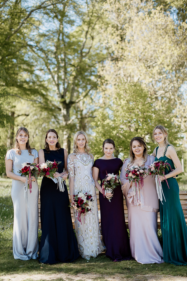 bride with friends at mount stuart