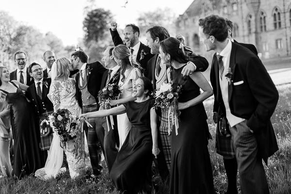 bridal party funny shot