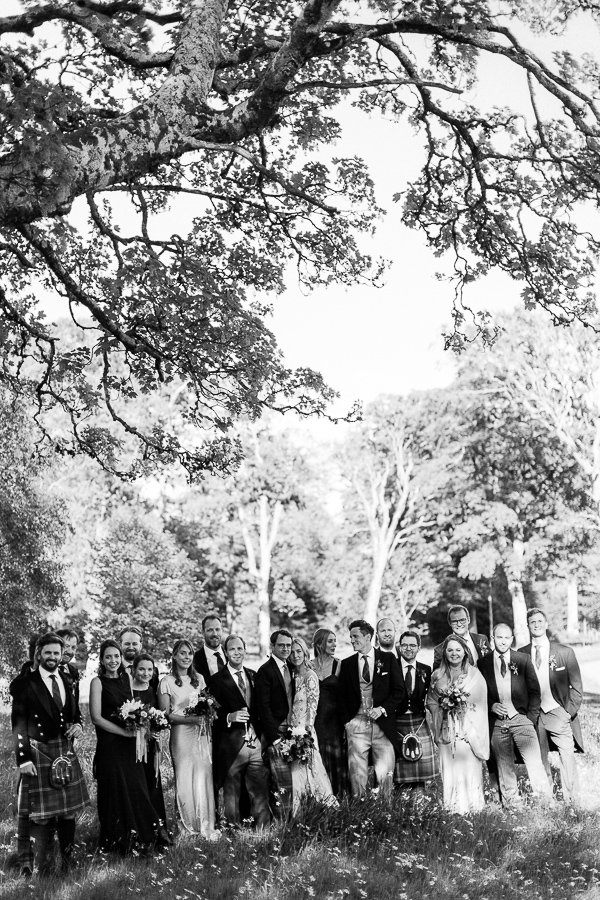 bridal party at mount stuart