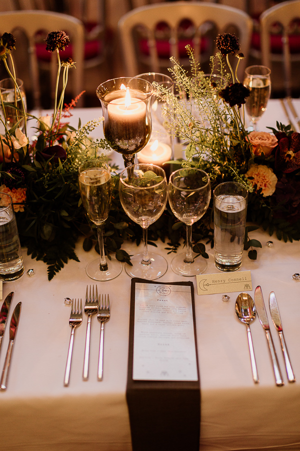 table decorations at mount stuart estate