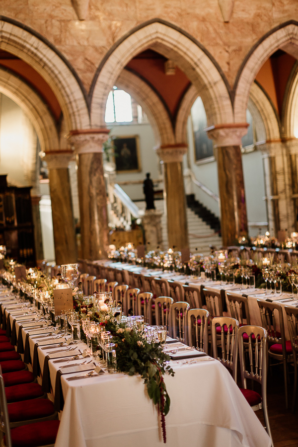 table layout at mount stuart house hall