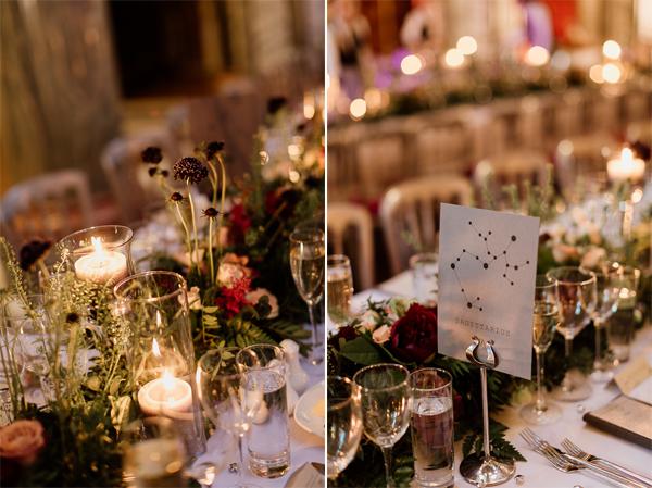 flowers on tables wedding