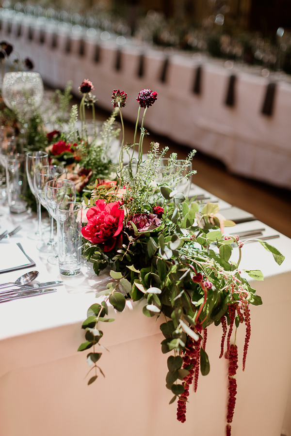 flowers on table wedding