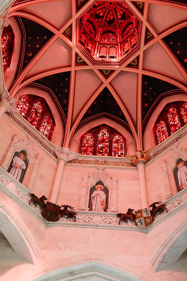 white chapel ceiling