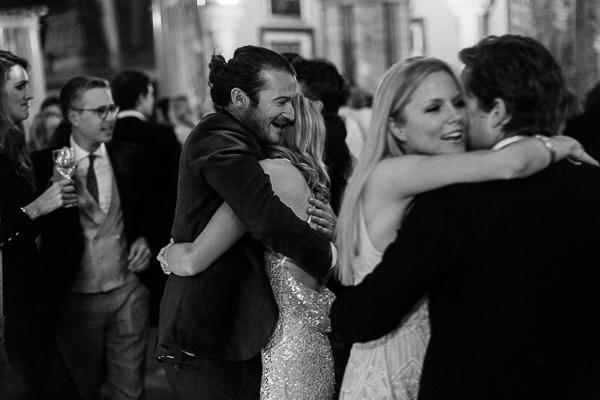 hugging during dancing at wedding