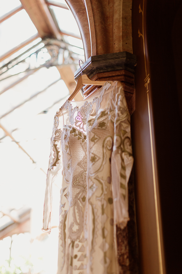 oriental wedding dress hanging