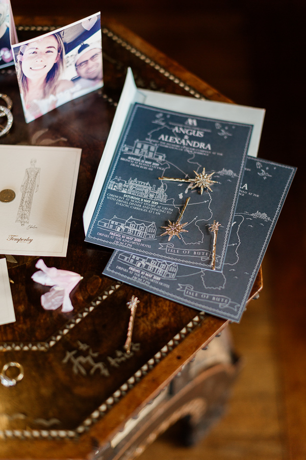 wedding invitations and jewellery