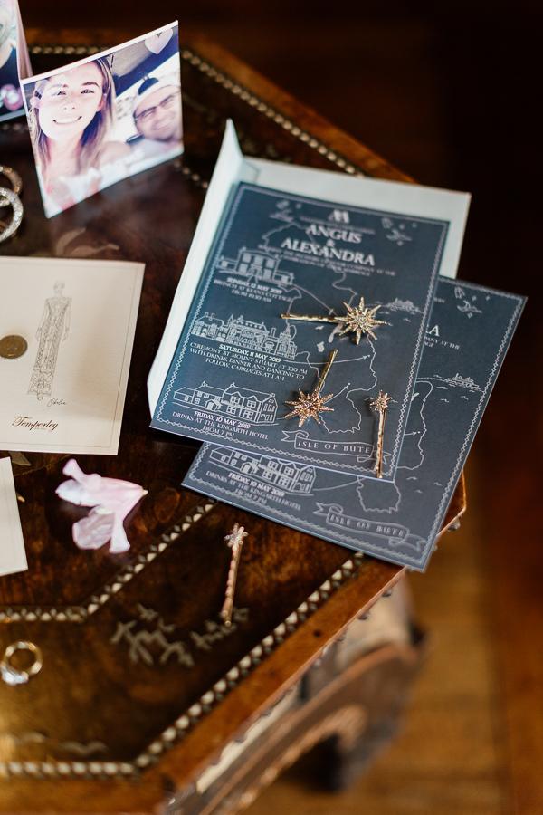 wedding invitations and jewellery
