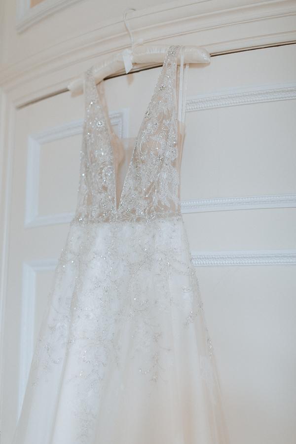 Wedding Dress photographed at Glenapp Castle Ayrshire Scotland
