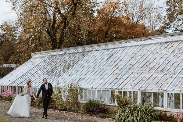 Greenhouse at Glenapp Castle Estate wedding photography