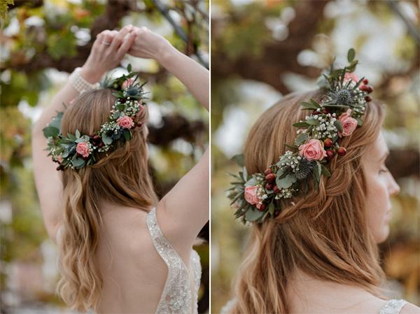 bridal shots inside Glenapp Greenhouse Ayrshire