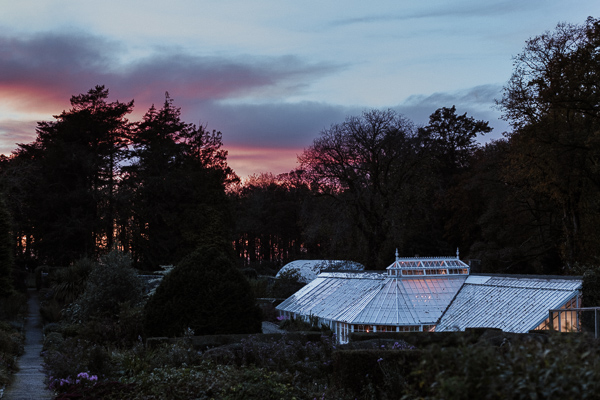 sunset at the wedding venue in ayrshire by fotogenic