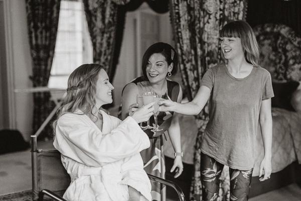 Glenapp Castle Suite and wedding guests