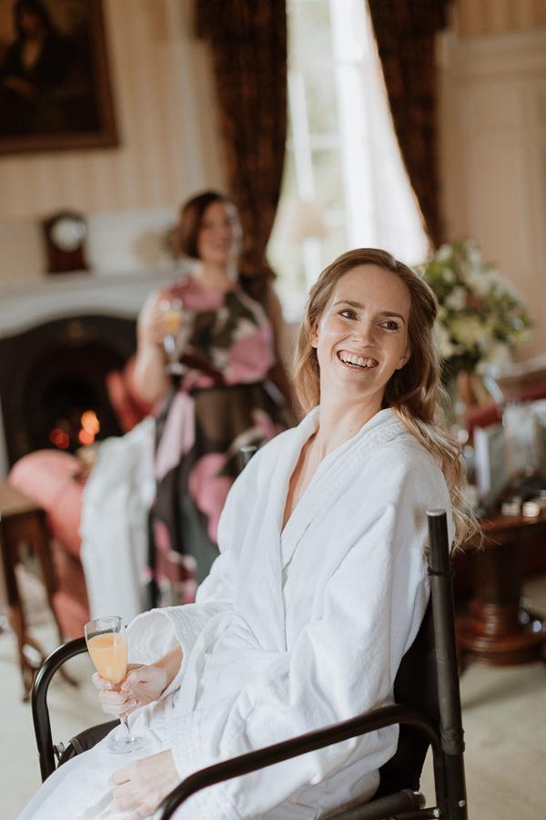 Bride at Glenapp Castle smiling