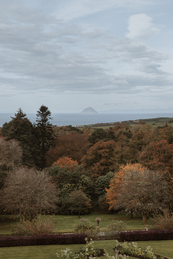 view from Glenapp Castle room