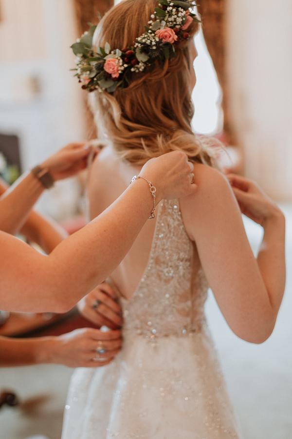 wedding preparations at Glenapp Castle Scotland