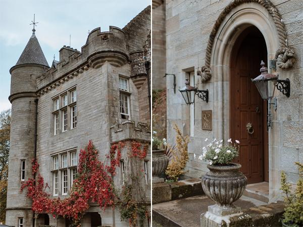 Gleddoch Castle Wedding Entrance Scotland photography