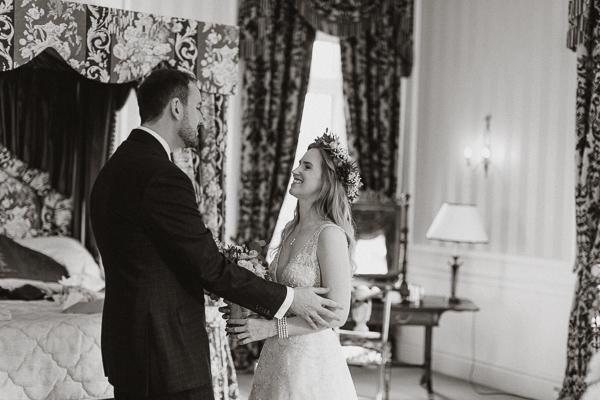 first glance at Glenapp Castle Wedding Scotland