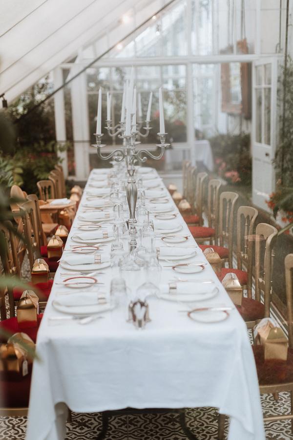 Wedding Breakfast at Glenapp Castle Wedding Photography