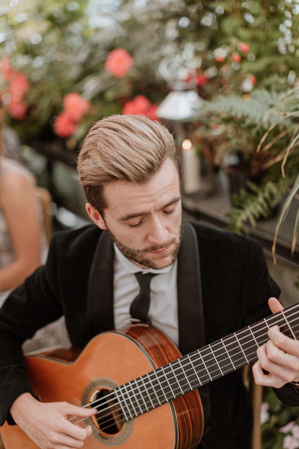 guitar player at Glenapp Castle Wedding Photograpy Scotland