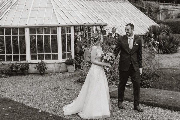 newlyweds at Glenapp Castle in Scotland