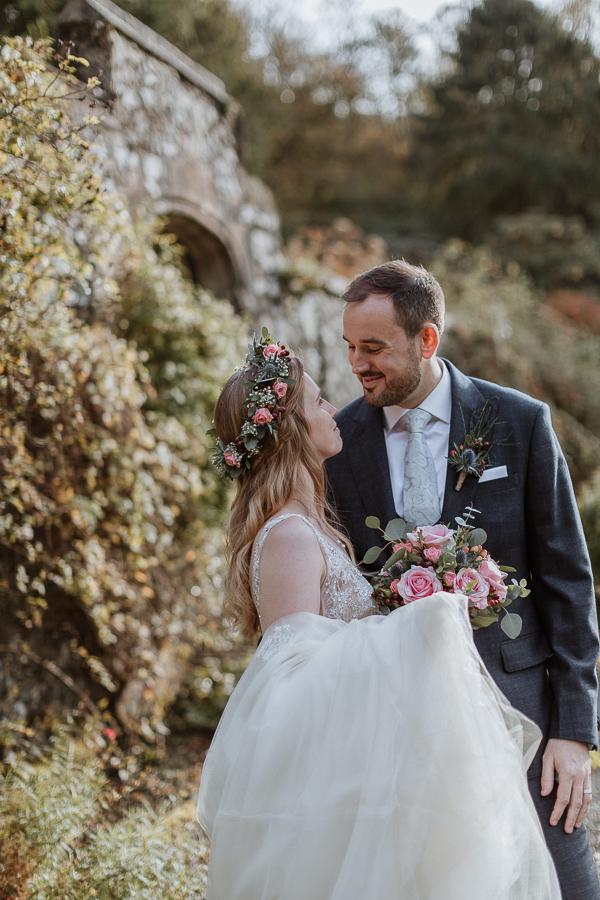 Glenapp CAstle gardens Ayrshire wedding photography