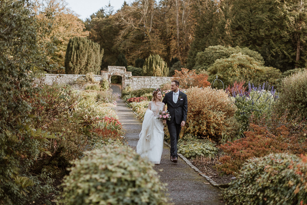 Glenapp Castle magnificent gardens wedding photographers scotland