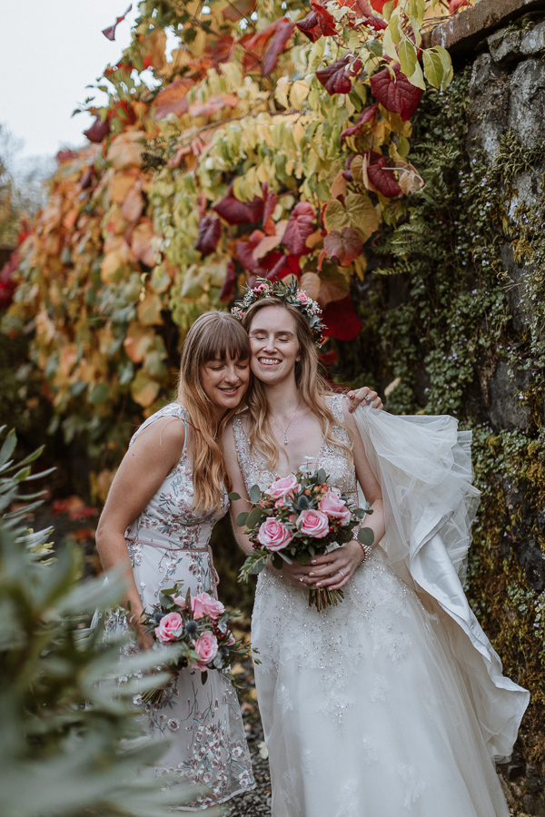 sisters at the wedding in Ayrshire 5 star hotel Glenapp