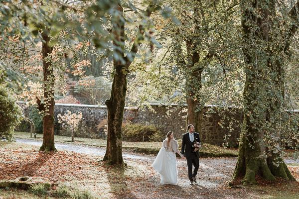 october wedding at Glenapp Castle 5 star venue in Scotland
