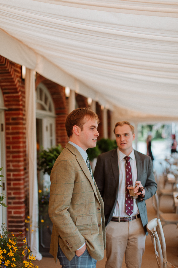 groom-to be at dumfries house pre wedding party