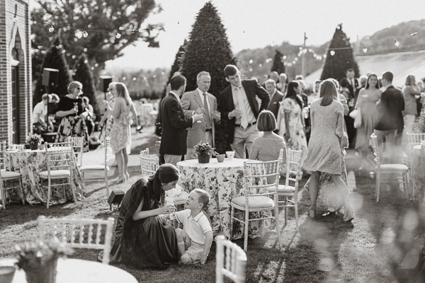 guests at dumfries house garden party