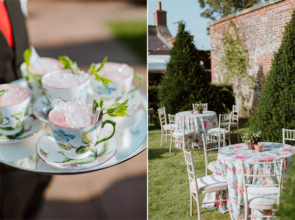 pre-wedding party at dumfries house drinks and table set-up
