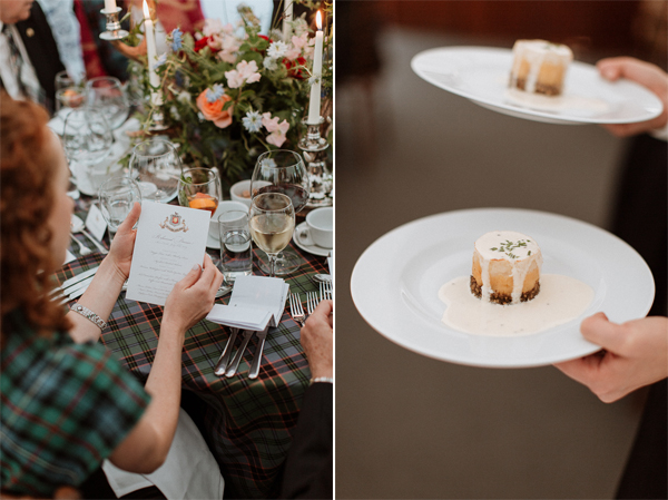 wedding breakfast at soarn castle