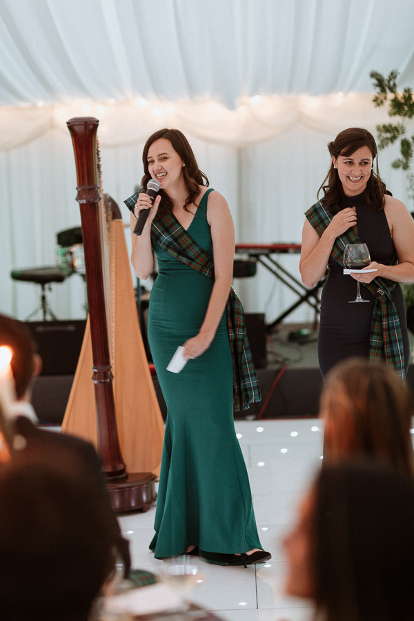 bridesmates speeking at soarn castle