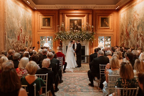 Dumfries House Wedding Photos ceremony at tapestry room