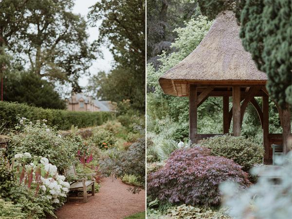 garden at Dumfries House Wedding