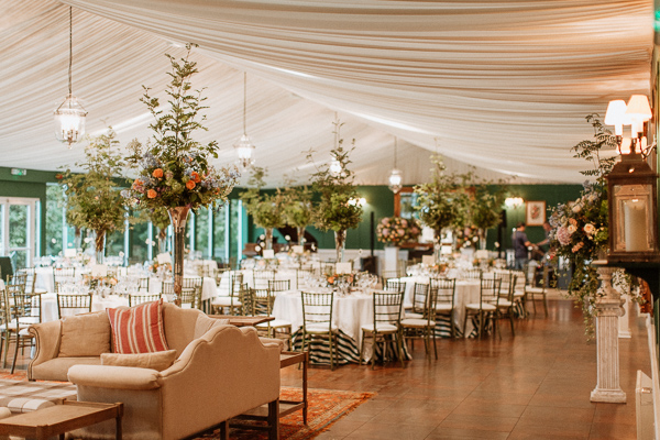 Dumfries House Wedding Photos table set-up