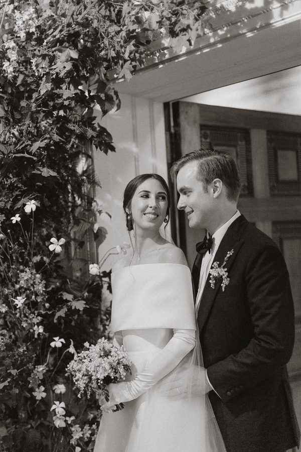 Dumfries House Wedding Photos newlyweds looking a each other