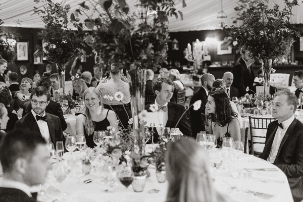 Dumfries House Wedding Photos guests by tables